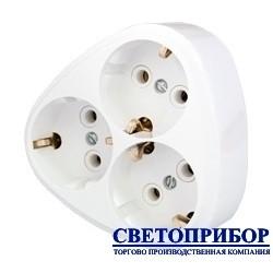 BYLECTRICA РВ16-259 Разветвитель трехместный с заземлением