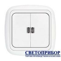 С5 10-207 Выключатель двухклавишный со световой индикацией
