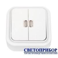 А5 10-215 Выключатель двухклавишный со световой индикацией