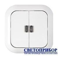 С5 10-233 Выключатель двухклавишный со световой индикацией