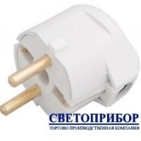 BYLECTRICA В16-242 Вилка с заземляющим контактом и боковым подводом провода