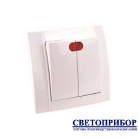 YW-2502 Выключатель двухклавишный со световой индикацией