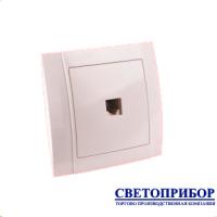 YW-2507-2507N  Розетка телефонная (полимерный суппорт)