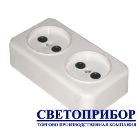 """Розетка 2-я наружная """"ЕМП"""""""