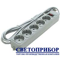 Cетевой фильтр Светоприбор 5 гнезд, 1.8м