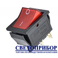 Кнопка широкая красная 4 контакта