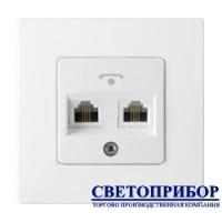 ТР24-5002 Розетка телефонная одногнездная (полимерный суппорт)