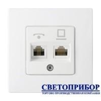 ТРК-5032 Розетка комбинированная (телефонная + компьютерная) (полимерный суппорт)