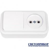 В-РЦ-521 Выключатель одноклавишный + розетка