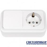 В-РЦ-527 Выключатель одноклавишный + розетка с заземлением