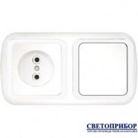 В-РЦ-533 Блок электроустановочный (розетка + одноклавишный выключатель)