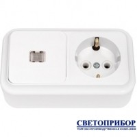 В-РЦ-567 Выключатель одноклавишный со световой индикацией + розетка с заземлением
