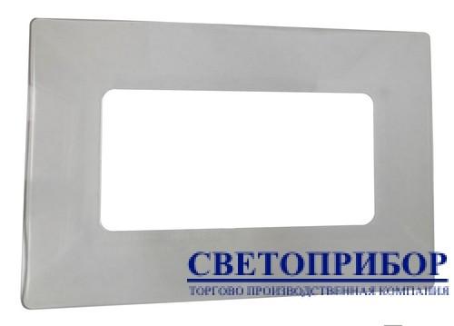Bylectrica Накладка на 2 выключателя прозрачная 421-01