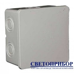 P-7 Коробка наружная герметик белая 90х90х50