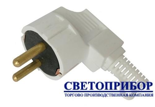 """Вилка 001 16А (евро) ЕМП """"латунь"""""""