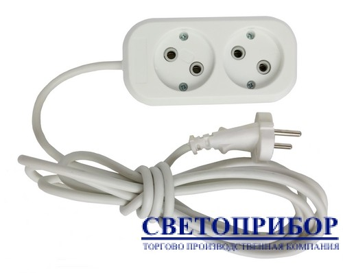 """Удлинитель 2-местный 2 метра """"СВЕТОПРИБОР"""""""