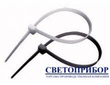 APRO Хомут нейлоновый белый/черный 2,5х100