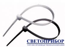 APRO Хомут нейлоновый белый/черный 2,5х80
