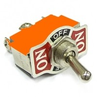 Тумблер оранжевый (ON-OFF-ON) 3-и контакта